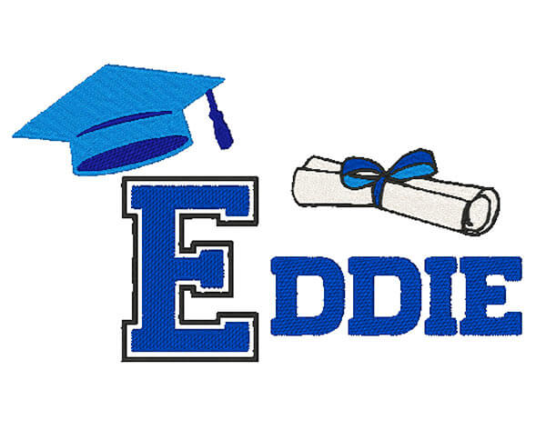 graduation embroidery pattern SENIORS Embroidery Design 6 sizes from 3.85 till 7.8 inches